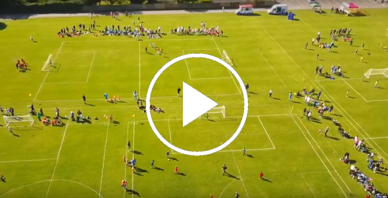 KnebFC Youth Summer Tournament - drone video preview play